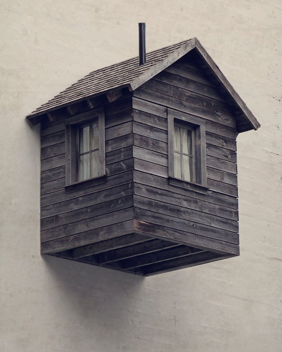 Room for Rent - Surreal Photo Art, Rustic Wall Decor, Modern Urban Design, Architecture Photo Print, How Odd.