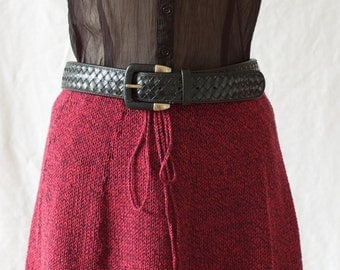 Cotton hand knit knee length skirt