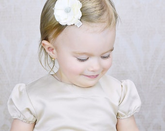 Ivory Hair Clip, Girls Hair Clip, Flower Girls, Hair Accessories, Wedding Hair Clip, Baby, Toddler Hair Flower, Flower Hair Clip