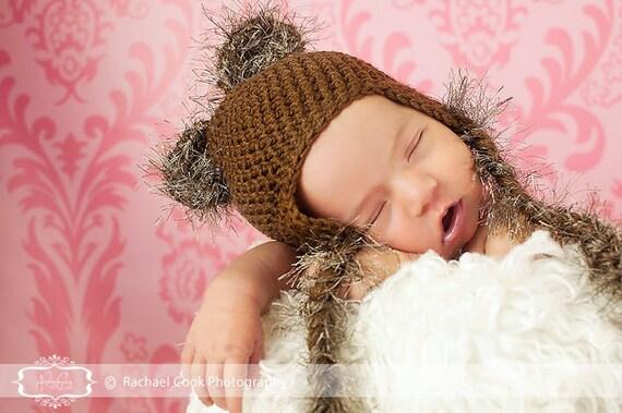 Baby Bear Hat, Toddler Bear Hat, Newborn Bear Hat, Baby Beanie, Toddler Beanie, Newborn Beanie, Crochet Knit Baby Hat, Boy Girl
