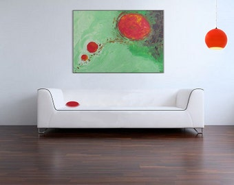 "CLEARANCE SALE-Huge 36"" x 24"" Original Acrylic Painting- ""Diffusion"", modern art, large painting, abstract, science art"