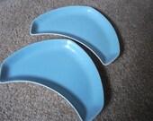 Poole Blue Moon Crescent side Plates
