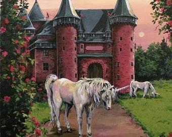 Unicorn Castle Guardian  Personalized