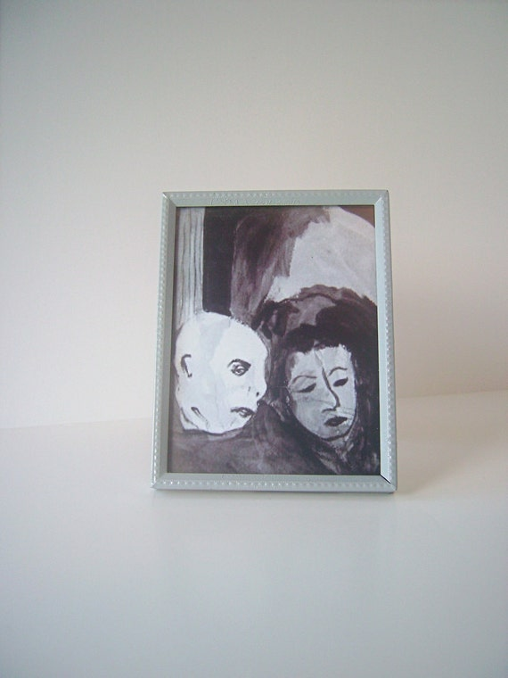 """Framed Art Print  """"FRANCISCO SAYS"""" by nyssaink in Small Vintage Upcycled Frame"""
