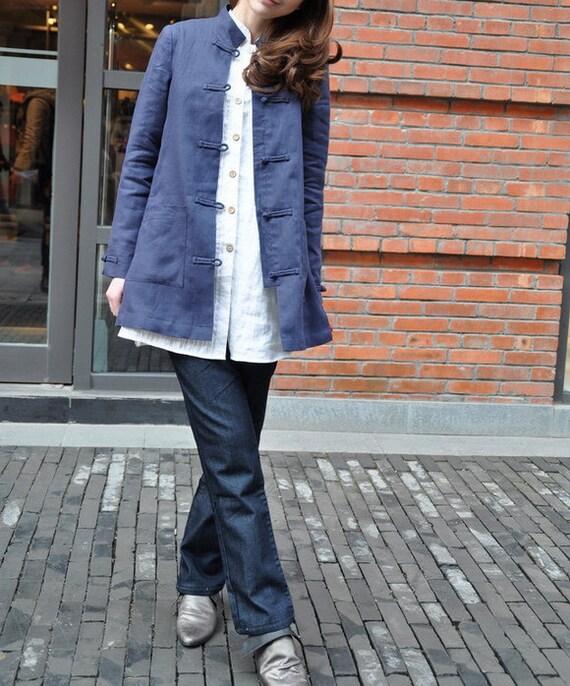 Linen Coat Jacket  - Custom Made