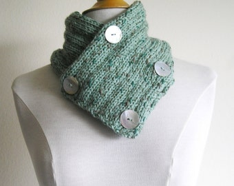 Classic Four-Button Cowl  - Wool with Shell Buttons - Naming Rights Included