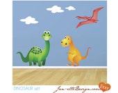 Dinosaur Fabric Wall Decals,Kids Dinosaur Stickers, Dinosaur Wall Art