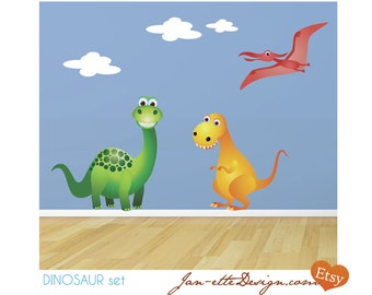 Kids Wall Decals,Dinosaur Fabric Wall Decals