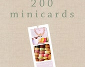 200 Personalized Minicards Thank you/Birth Announcement/Birthday/X-mas...