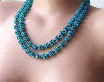 Vintage Bead Necklace from Western Germany, Beaded Necklace