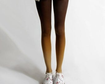 BZR Ombré tights in Animal