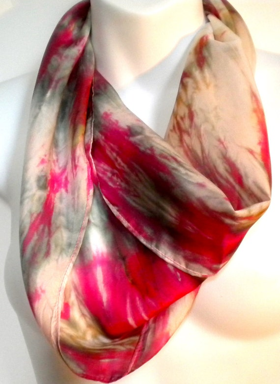 Sophisticated Accessories SILK SCARF / Hand Painted  Silk Scarf  by New York artist Joan Reese/100% silk