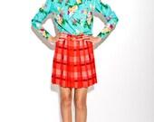 FINAL REDUCTION was 285 NOW 90 vintage 1980's Emanuel Ungaro silk neon rainbow floral print blouse