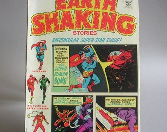 Vintage Comic Book, DC Special Earth Shaking Stories, No. 18, Spectacular Super Star Issue, November 1975, DC Comics