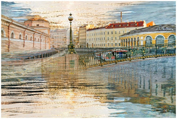 City architecture art print, oversized artwork, St Petersburg european city photography, large wall art, living room decor, 20x30, 24x36