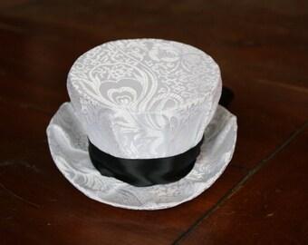 White Mini Steampunk Hat