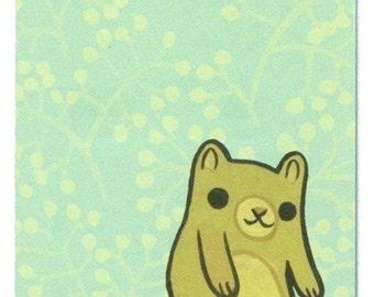 Notepad - bear artwork note paper - Music Bear Notepad by boygirlparty - honey bear paper pad
