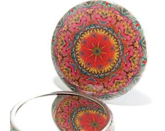 Pocket Mirror Mandala 7, Pastel Floral Mandala