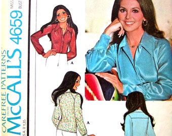 70s Blouse Pattern // Western Fitte d Shirt // McCalls Pattern 4659