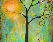 Tree Print Art Wall Decor Signed Modern 11X14 Sunshine - Colorful - Tree of Life - Bright - Cheerful
