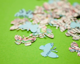 Die cut map butterflies
