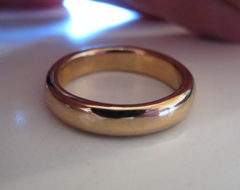 4.5mm Simple Thick Heavy Handmade Men's Wedding Band- 14K or 18K Gold Comfort Fit