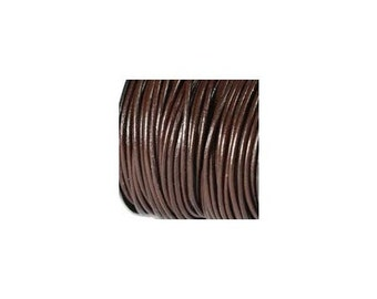 0.5mm Brown Leather Cord 43435 (25 yards) Round Leather Cording, Thin Leather Cord, Necklace Cord, Leather for Bracelet, Round Cording