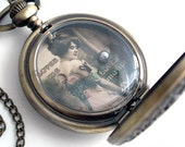 Loves Me, Loves Me Not  - Hand Held Dexterity Game in Pocket Watch Case - Necklace Handmade Jewelry