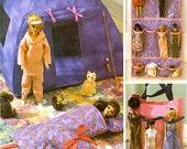 BARBIE DOLL Sewing Pattern - Dolls Tent Tote Bag Cat Dog Organizer MINT