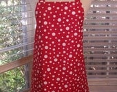 Womens Full Apron, Red and White Apron, Polka Dot Apron, Pocket Apron, Kitchen Apron, Bib Apron, Red Apron, Butcher Apron, Cotton Apron, Red