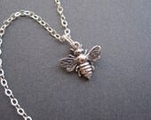 Sterling Silver Bee Necklace - The Everyday Miniature Collection