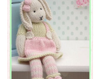 LILY.... A Spring Baby Bunny  / PDF Toy  Knitting Pattern/ Rabbit Knitting Pattern/ INSTANT Download