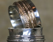 Low Profile Spinner Ring with14K  Gold Filled Spinning Bands