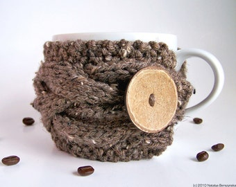 Coffee Mug Cozy, Cup Cozy, Coffee Cup Sleeve, Coffee Cup Cozy, Coffee Sleeve, Coffee Cozy, Rustic Decor, Rustic Wedding Decor, Rustic Gifts