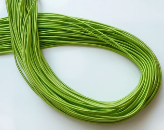5Yards 2.80mm Satin Elastic in Green..For Stationary, Accessories, Jewelry, Stationary