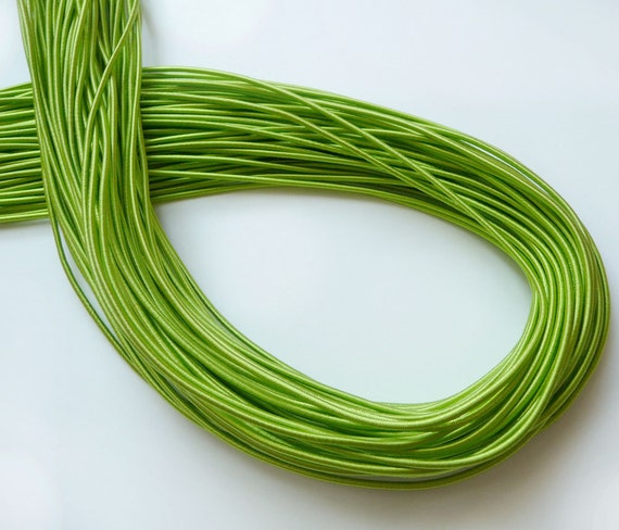5Yards 2mm Elastic in Green..For Stationary, Accessories, Jewelry, Stationary