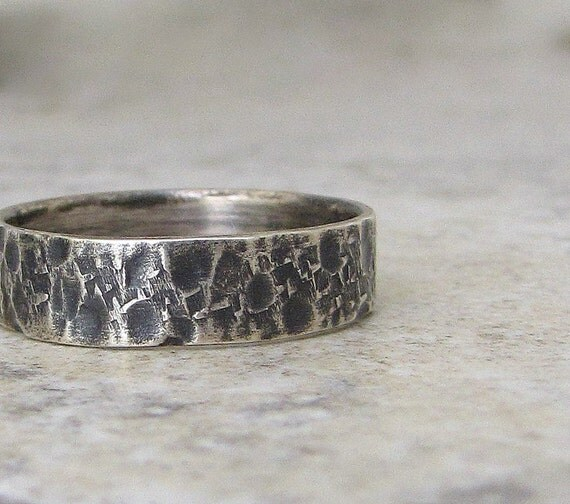 mens wedding band silver wedding ring unique by silversmack