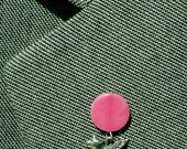 Silver n Pink Tagua Nut Flying Pig Lapel Pin, Pig with Wings Tie Tack, Ecofriendly Pigasus Pin, When Pigs Fly Tie Tac