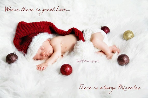 Babies First Christmas - Christmas Photo Prop