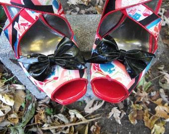 Shoe Clips Black Bows Shoe Clips Black Patent Leather Shoe Clips Vintage Shoe Clips Black Shoe Clips