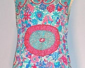 EMILIO PUCCI Early Vintage Intricate Beaded Formal Cocktail Top - AUTHENTIC -