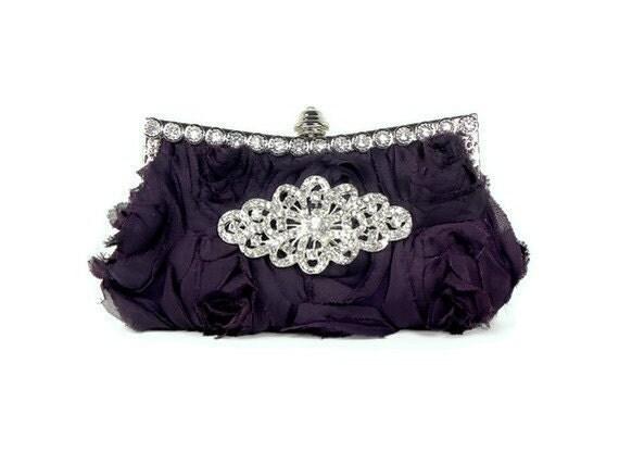 Purple Bridesmaids Clutch, Bridal Clutch, Wedding Clutch, Evening Bag, Wedding Accessories, Bridal Accessories