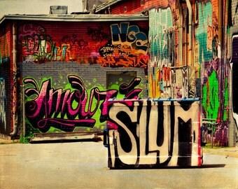 Graffiti Art Print, Street Photograph, Modern Art, Hip Hop, Pop Culture, Spray Paint, Fine Art Photography, Urban Decay, Modern Wall Decor