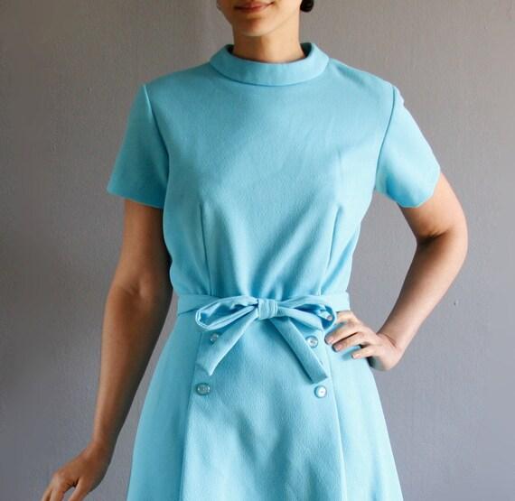 1960's tiffany blue mod dress