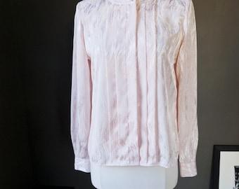 SALE, SALE...Gigi... vintage long sleeve blouse in a lovely petal pink