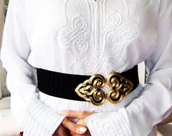 White Moroccan Caftan Kaftan- Bedouin Style -for Ramadan, Eid wear, Abaya, loungewear,resortwear, Birthdays, Honeymoon, Maternity Gift