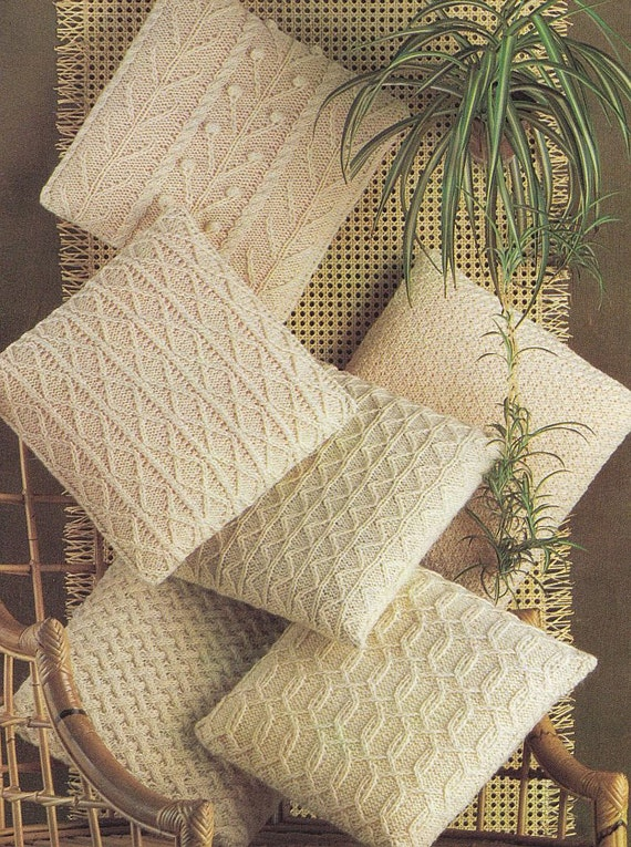 Pillow Knitting Patterns PDF Instant Download by PaperButtercup