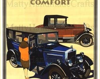 Morris Oxford, Cars,1930s, Art Deco, Print - Advertising Poster