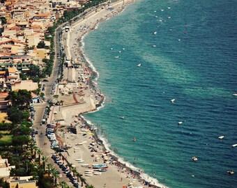 Sicily Italy Photography - Italian Beach Photograph - Ocean Home Decor - Turquoise Aqua Mediterranean Vacation Sea Print Travel Art