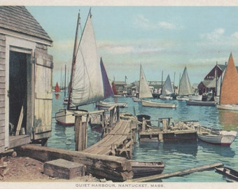 Quiet Harbour, Nantucket postcard. Gardiner, PHOSTINT